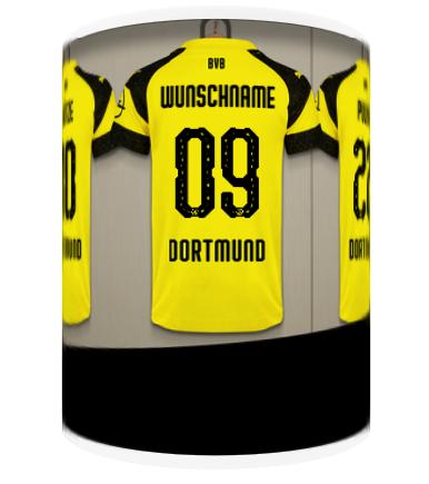 107. BVB-Tasse indiv. Umkleidekabine (Du und dein Team)