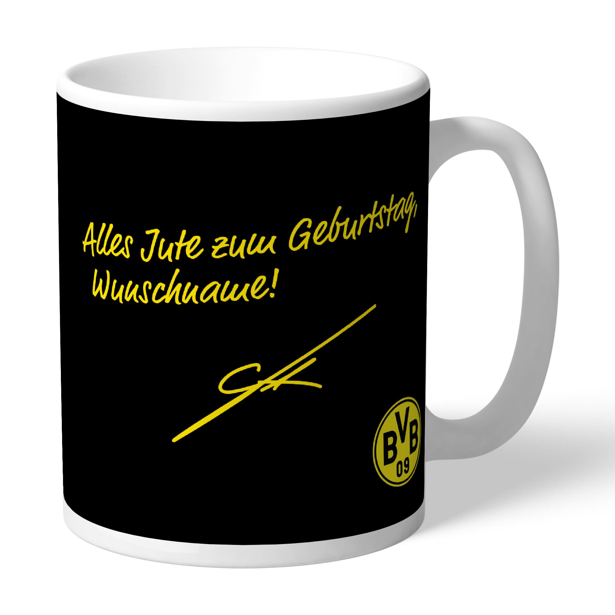 77. BVB-Tasse indiv. Gotze (Geburtstag)